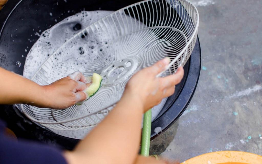 شستن و مراقبت از پنکه